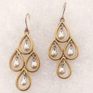 NWOT 🍀 Lucky Brand gold and silver earrings